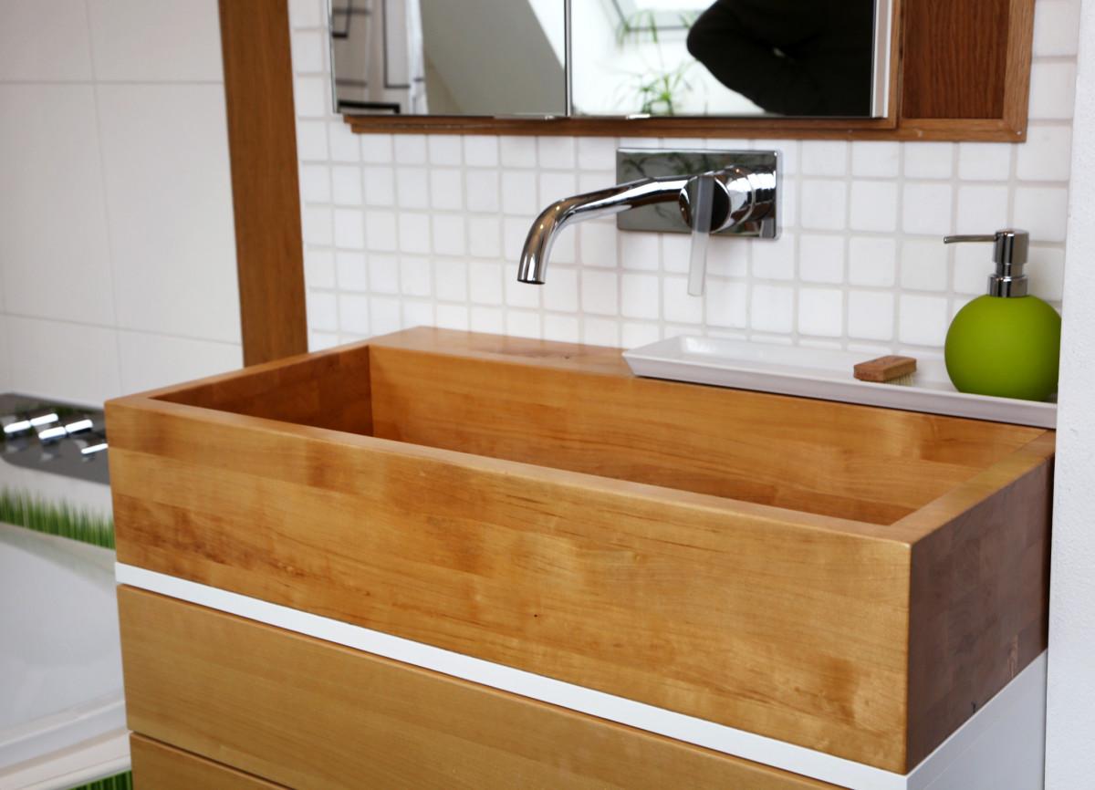 Holz-Waschbecken – Schreinerei Rödl