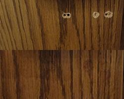 Instandsetzung Zimmertüre vorher - nachher
